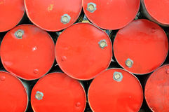 Red industrial drums background royalty free stock image