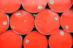 Red industrial drums background Royalty Free Stock Photo
