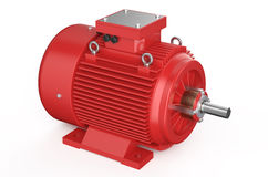 Red industrial electric motor Royalty Free Stock Photography