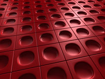 Red Industrial Metallic Shiny Background. 3d Render Illustration Royalty Free Stock Photos