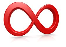 Red infinity vector illustration