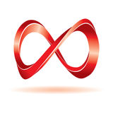 Red infinity sign. For your business artwork Royalty Free Stock Photo