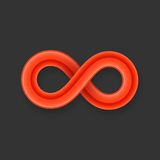 Red infinity symbol icon from glossy wire with Stock Photos
