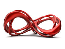 Red infinte construction Stock Photo