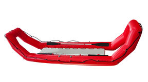 Red Inflatable Lifeboat Stock Image