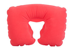 Red inflatable neck pillow Royalty Free Stock Photo