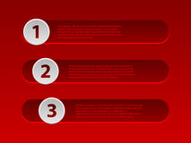 Red infographic design with options Royalty Free Stock Image