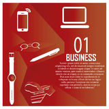 Red infographic Stock Photography