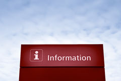 Red information sign Stock Images