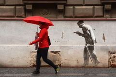 Red, Infrastructure, Public Space, Umbrella royalty free stock photos