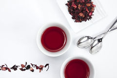 Red infusion. Two cups of red infusion Stock Photo