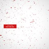 Red ink or blood splatter splashes texture background. Vector Royalty Free Stock Image