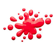 Red ink blot. A red ink blot and droplets Royalty Free Stock Photography