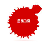 Red ink blot. Abstract background. Speech bubble, vector 3D illustration. Grunge symbol for cards, poster, cover and Royalty Free Stock Photos