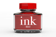 Red Ink Bottle Royalty Free Stock Image