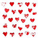 Red Ink Hearts Stock Images