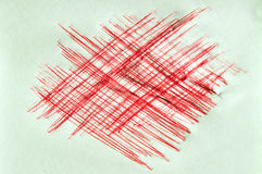 Red ink scratchy background Stock Photos