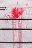 Red ink splashes on a wall Royalty Free Stock Photography