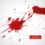 Red ink splatter texture stain background. Vector Royalty Free Stock Photography