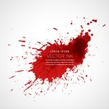 Red ink splatter vector. Design vector illustration