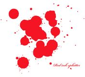 Red ink splatter on white Royalty Free Stock Photography