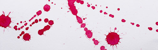 Red ink spots Stock Photos