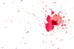 Red Ink spots Stock Photo