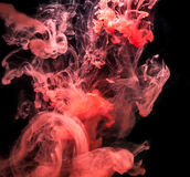 Red Ink in water. Royalty Free Stock Photography