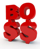 Red inscription the Boss Royalty Free Stock Images