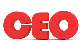 Red inscription CEO Stock Photo