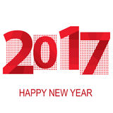 2017 Red inscription on a geometric background. Happy New Year. Vector illustration Royalty Free Stock Photos