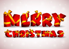 Red inscription Merry Christmas Stock Photo