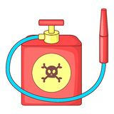 Red insecticide spray icon, cartoon style Royalty Free Stock Image