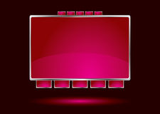 Red interface Royalty Free Stock Photos