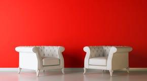 Red Interior Stock Photo