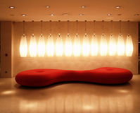 Red Interior Ambience Light Royalty Free Stock Image