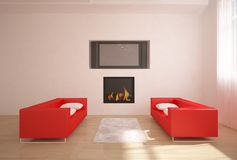 Red interior composition Royalty Free Stock Photography
