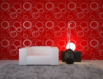 Red interior concept Royalty Free Stock Photo