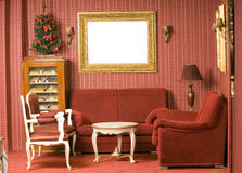 Red interior design stock photography