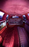 Red Interior of Excalibur Limo Royalty Free Stock Photo