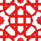 Red interwoven ribbons. Seamless pattern Stock Photography
