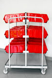 Red inventory trolley Royalty Free Stock Photo