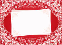 Red invitation card Royalty Free Stock Photo