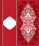 Red invitation card Stock Images