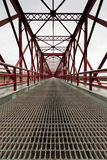 Red Iron Bridge Royalty Free Stock Image
