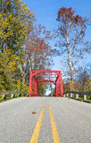 Red Iron Bridge Royalty Free Stock Photography