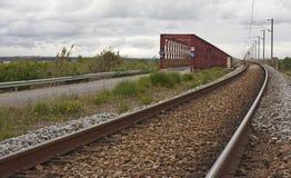 Red iron bridge Queen Amelia Royalty Free Stock Photo