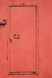 Red iron door Royalty Free Stock Images
