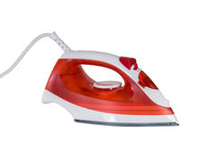 Red iron ironed electric. Royalty Free Stock Photography