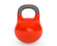 Red iron kettlebell for weightlifting and fitness Royalty Free Stock Image